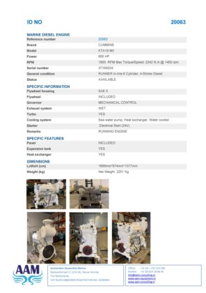 Cummins KTA19 Engines For Sale